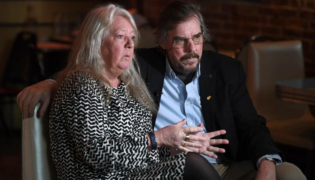 <strong>FORELDRENE TIL KIM WALL:</strong> Mor Ingrid Wall og far Joachim Wall. Foto: AFP / Angela Weiss