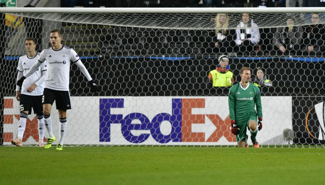 <strong>SLITER:</strong> Rosenborg tapte 2-5 mot RB Salzburg i Europaligaen. Foto: Ole Martin Wold / NTB scanpix