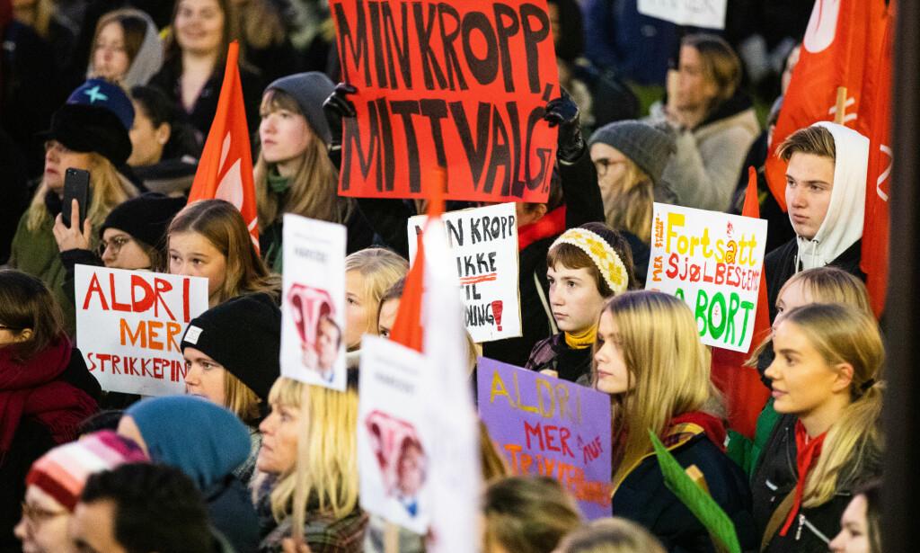 NEI TIL ENDRINGER: En fersk måling viser at mer enn åtte av ti er mot endringer i abortloven. Foto: Audun Braastad / NTB Scanpix