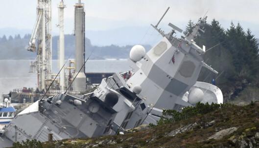 Risiko for at fregatten kan flytte på seg
