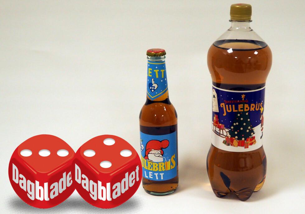 JULEBRUSNYHETER: Vi har testet årets to nye julebrus, Dahs Lett julebrus fra Ringnes og Julestemning julebrus fra Coca-Cola.