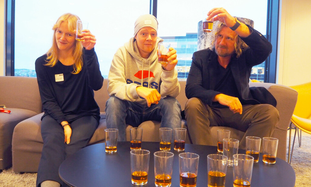 TESTPANELET: Elise Lindsetmo, Anders Kranmo Smestad og Thomas Hoff. Foto: Jenny Mina Rødahl