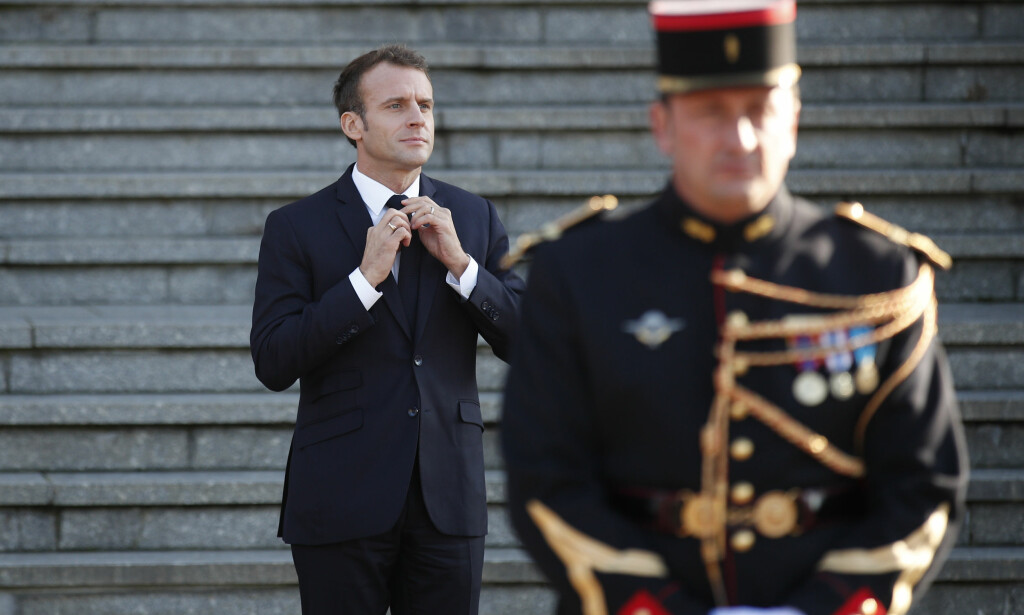 Sliter: Den franske presidenten, Emmanuel Macron, sliter på hjemme bane. Foto: AP Photo / NTB scanpix