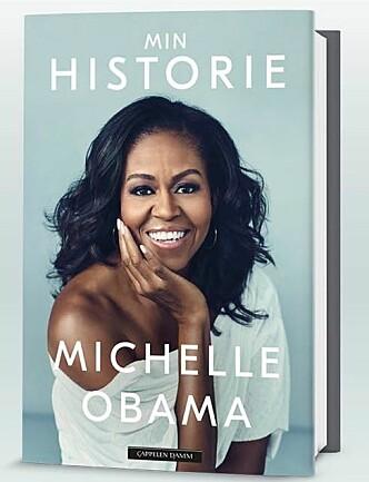 SELVBIOGRAFI: 13. november ble Michelle Obamas selvbiografi «Becoming» lansert over hele verden. Boken er oversatt til 24 språk, og på norsk har den fått tittelen «Min historie». FOTO: Faksimile Cappelen Damm