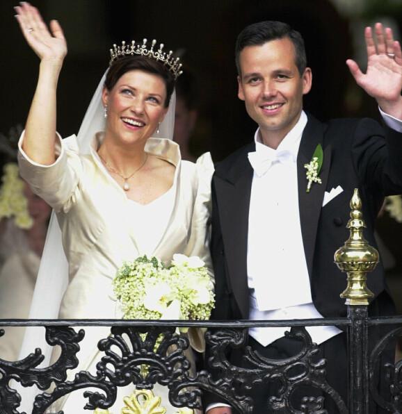 TO MÅNEDER: Maud Angelica kom til verden 29. april 2003, 390 dager etter bryllupet til prinsesse Märtha Louise og Ari Behn. Foto: Heiko Junge/ NTB scanpix