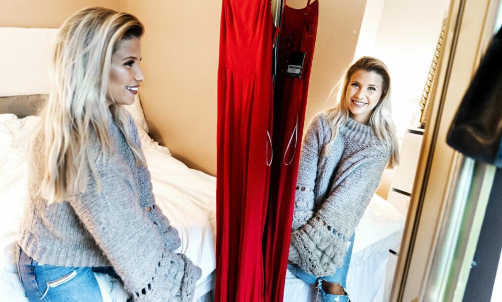 METT: Andrea Badendyck (23) har tjent mer penger enn de fleste på hennes alder. Likevel ønsker hun å legge sin mest innbringende virksomhet på hylla. Her hjemme i Oslo. Foto: John Terje Pedersen / Dagbladet