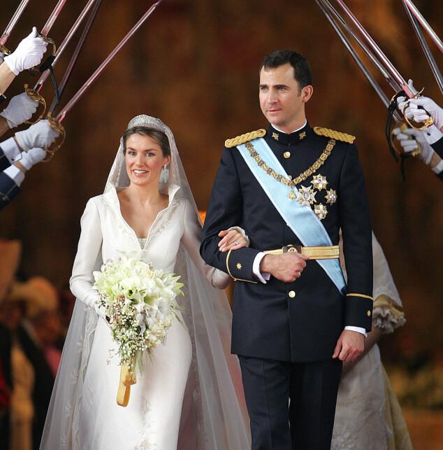 ÅTTE MÅNEDER: Prinsesse Leonor kom til verden 31. oktober 2005, 527 dager etter bryllupet til nåværende kong Felipe og dronning Letizia. Foto: NTB scanpix