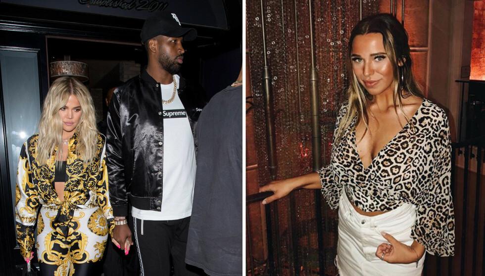SOLGTE OMTALT VIDEO: I april var Khloé Kardashian og kjæresten Tristan Thompson den store snakkisen, etter at en video av sistnevnte i het omfavnelse med en annen kvinne spredte seg i utenlandske medier. Videoen ble filmet og lekket av norske Vendela Hansen (t.h). Foto: NTB scanpix / Instagram