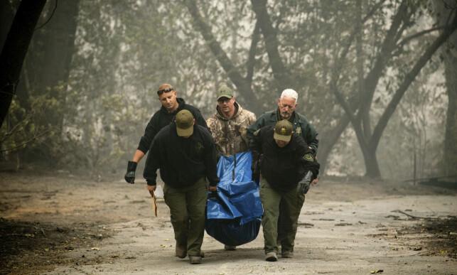 23 OMKOMNE: 23 personer er bekreftet omkomne etter den kraftige brannen i Paradise. Foto: AP Photo / NTB Scanpix