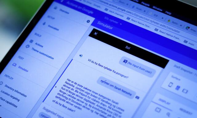 Actions for Google brukes til å teste, registrere og deploye appen din. Slik at den er tilgjengelig i Google Assistant og Google Home. 📸: Ole Petter Baugerød Stokke