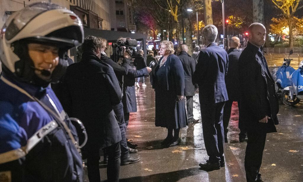 TOPPMØTE: Gatene i Paris var stengt da statsoverhoder fra nesten hundre land møttes i Paris søndag. Foto: Lars Eivind Bones / Dagbladet