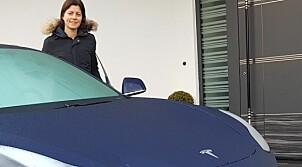 Anette fikk den første Tesla Model 3 i Norge - lenge før alle andre