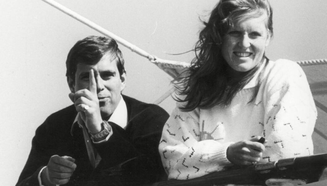 SKANDALEMAKERE: På starten av 1990-tallet var det vanskelig å åpne en avis uten å se prins Andrew og hans kone avfotografert. Det var ofte på grunn av skandalene de var involvert i. Her er de fotografert i 1984, to år før bryllupet. Foto: NTB scanpix