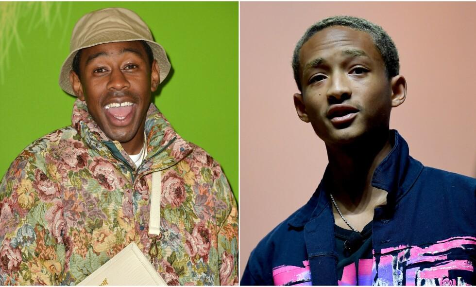 KJÆRLIGHET I LUFTA: Under en konsert søndag, hevdet Jaden Smith at han er sammen med rapperen Tyler, The Creator. Foto: NTB Scanpix