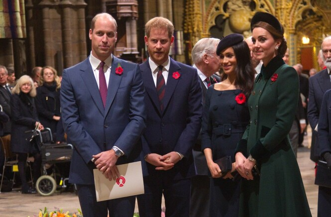 <strong>FORAN MEGHAN:</strong> Både prins Harry, prins William og hertuginne Kate ligger over Meghan på popularitetslisten. Foto: NTB scanpix
