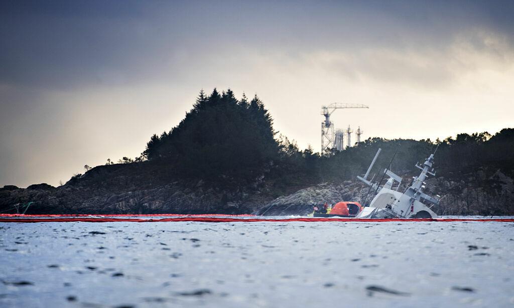 image: Jobbet på brua på «Helge Ingstad»: Mener dette er årsaken til at det gikk galt