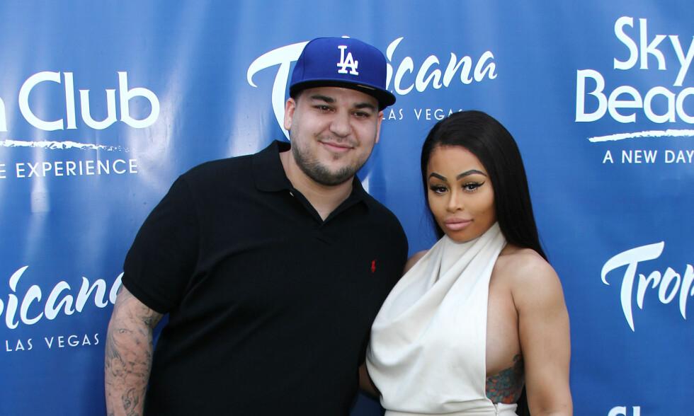ISFRONT: Verken Rob Kardashian eller Blac Chyna har gått stille i dørene etter bruddet. Foto: NTB Scanpix