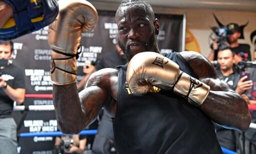 NESTE UTFORDRING: Deontay Wilder har WBC-beltet i boksing. Foto: NTB Scanpix