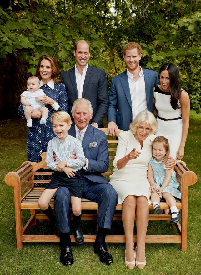 Silver Squaux: The Duchess Kate, Prince William, their children - Prince George, Princess Charlotte and Prince Louis, as well as Prince William, the Duchess Megan and Duchess Camilla, were all present when the special family photo was taken. Photo: Chris G. Jackson / AP, NTB scanpix