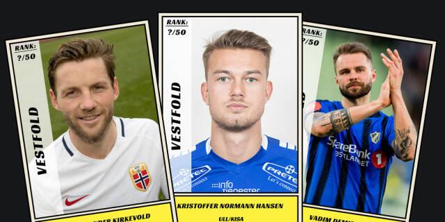 61597169 Dagbladet kårer de 50 beste fotballspillerne fra Vestfold