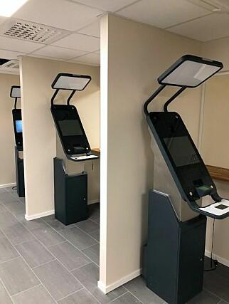 Snart klare: Biometrikioskene i Oslo er snart klare for bruk. Foto: Politiet