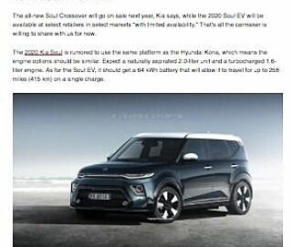 Carscoops a retiré le camouflage de la nouvelle Kia Soul Electric et est arrivé à ce résultat. Faximile: Carscoops.com