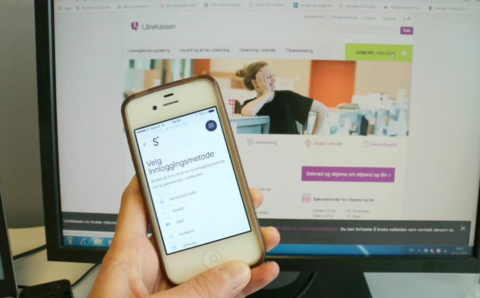 <strong>PÅ ETT STED:</strong> Flere kunder hos Sbanken kan nå se studielånet sitt i mobilbanken som del av et pilotprosjekt banken har med Lånekassen. Foto: Eilin Lindvoll.