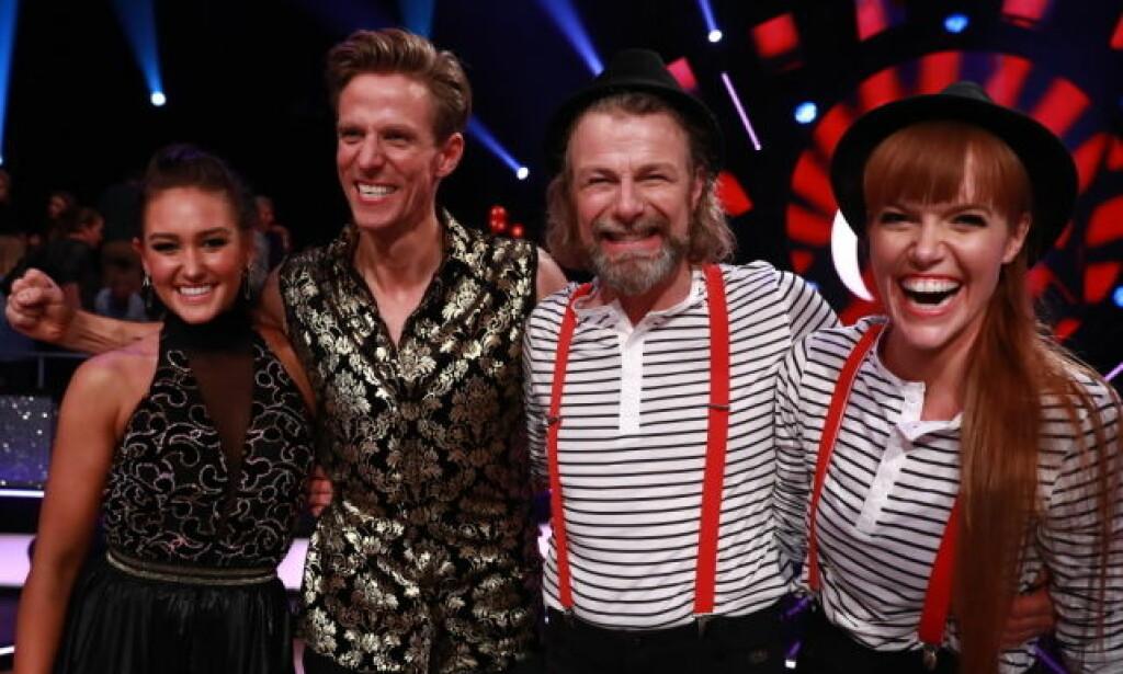 FINALEKLARE: Rikke og Jan Gunnar møter Einar og Anette i lørdagens finale. Foto: Thomas Reisæter / TV 2
