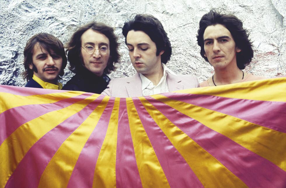 """BEATLES 1968: Tok verden med storm med den springende, varierte, stormfulle og poetiske dobbeltplata """"The White Album"""". Foto: Universal"""