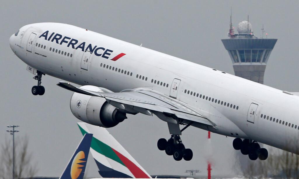 FIKK PROBLEMER: Avgangen fra Paris gikk fint for Air France-flyet, men turen til Shanghai tok tre døgn lenger enn planlagt. Illustrasjonsfoto: NTB Scanpix