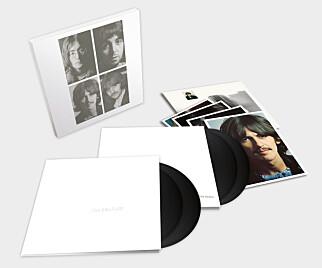 FLERE UTGAVER: Det kommer fire forskjellige jubileumspakker av «The White Album». Her er en av vinylutgavene.