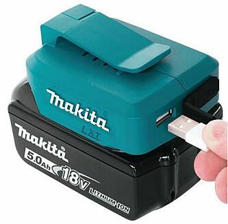 <strong>Makita ADP05:</strong> Kan brukes med 14,4 - eller 18V-batteri. kr 335, staypro.no. Foto: Produsenten