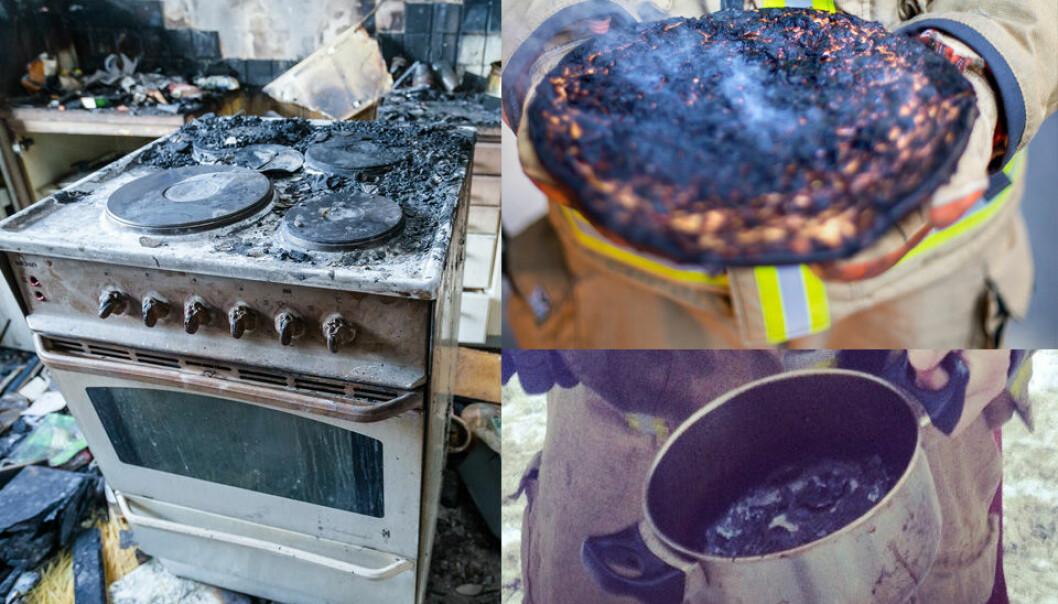 Komfyren en versting i brannstatistikken
