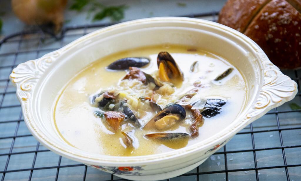 HJEMMELAGET: Alt som er hjemmelaget er snart luksus. Heldige er vi som kan fikse fiskesuppe. Foto: Lisbeth Michelsen