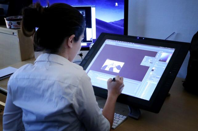 For å lage grafikk bruker Megapop blant annet Photoshop til 2D, og Maya og Zbrush til 3D. 📸: Ole Petter Baugerød Stokke