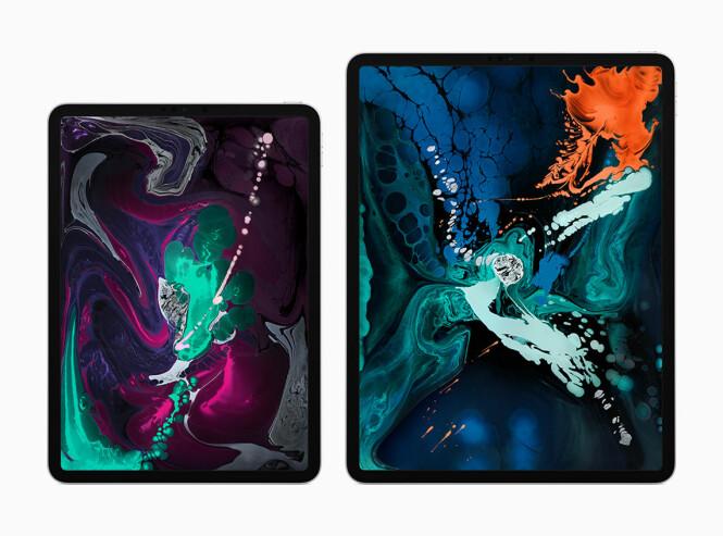 <strong>TO UTGAVER:</strong> iPad Pro 2018-utgaven kommer i en 11- og en 12,9-tommerversjon. Foto: Apple