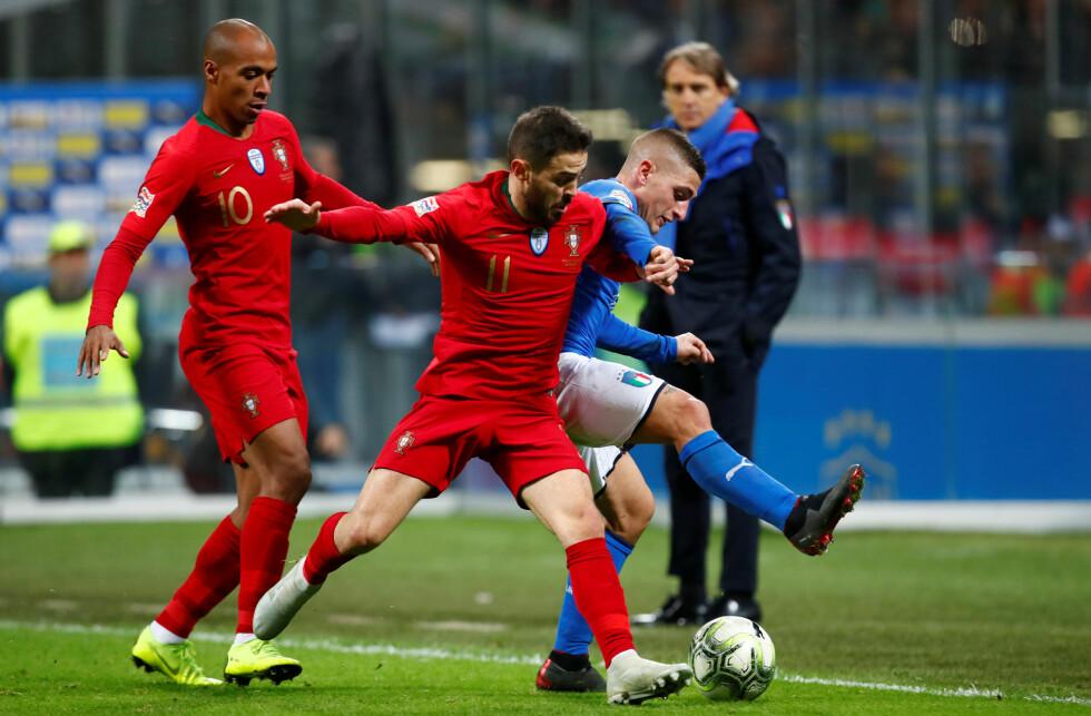 JEVNSPILT: Verken Portugal eller Italia maktet å score. Foto:     REUTERS/Alessandro Garofalo/NTB Scanpix
