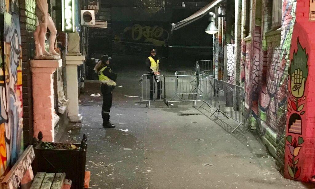 image: Minst to knivstukket på utestedet Blå i Oslo. - Trolig gjengrelatert