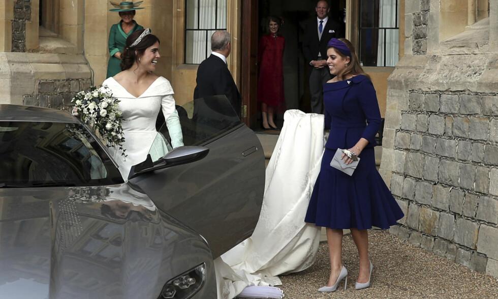 BRYLLUPSKLAR: Flere hevder at prinsesse Beatrice snart vil følge i søsterens fotspor og gifte seg. Her fra sistnevntes bryllup tidligere i år. Foto: NTB Scanpix