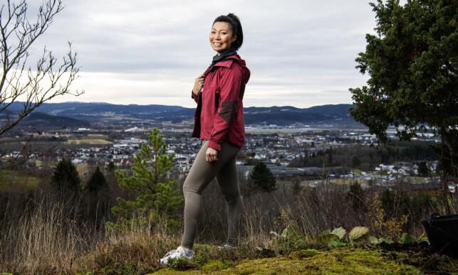 TILBAKE I HVERDAGEN: Irene Halle (35) er hjemme i Stjørdal igjen etter «Farmen»-oppholdet. Foto: Ole Martin Wold