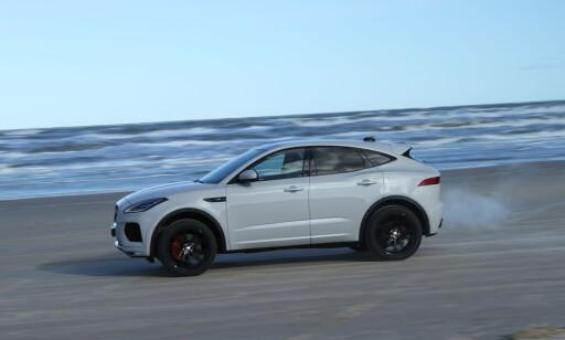 SLAKT: Nødbrems-systemet til Jaguar i-Pace klarte bare maks 15 km/t. Nå går ingeniørene tilbake til utviklingsavdelingen. Foto: Jamieson Pothecary