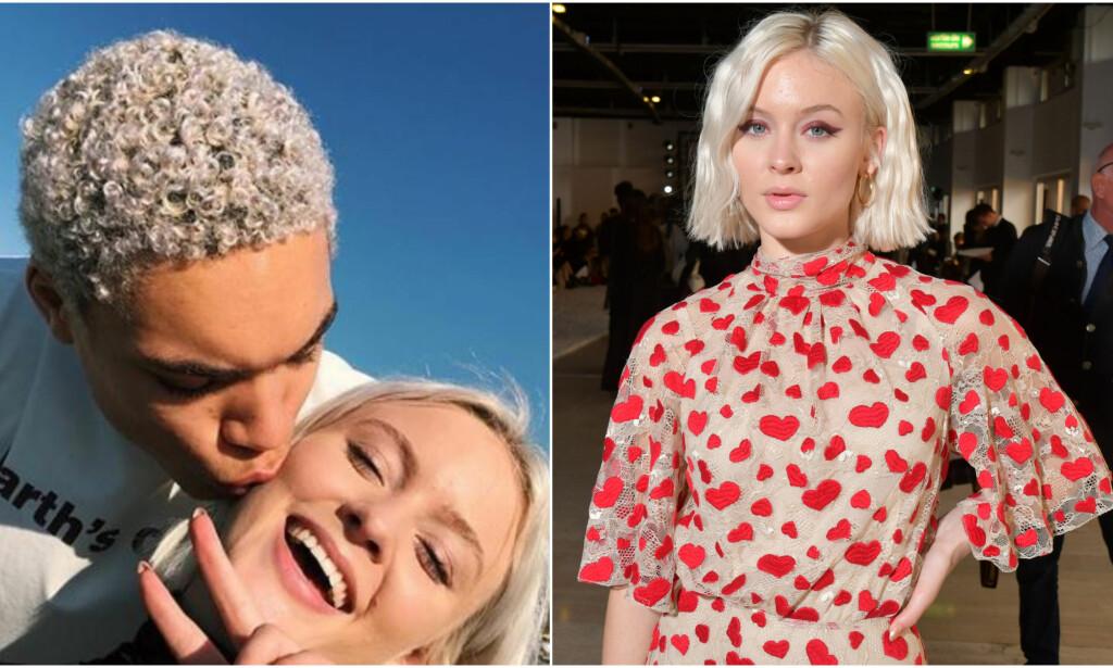 SEIG START: Zara Larsson avslører at forholdet til kjæresten Brian Whittaker gikk litt trått i starten, og at de ikke hadde noe kjemi. Foto: Skjermdump fra Instagram/ NTB Scanpix