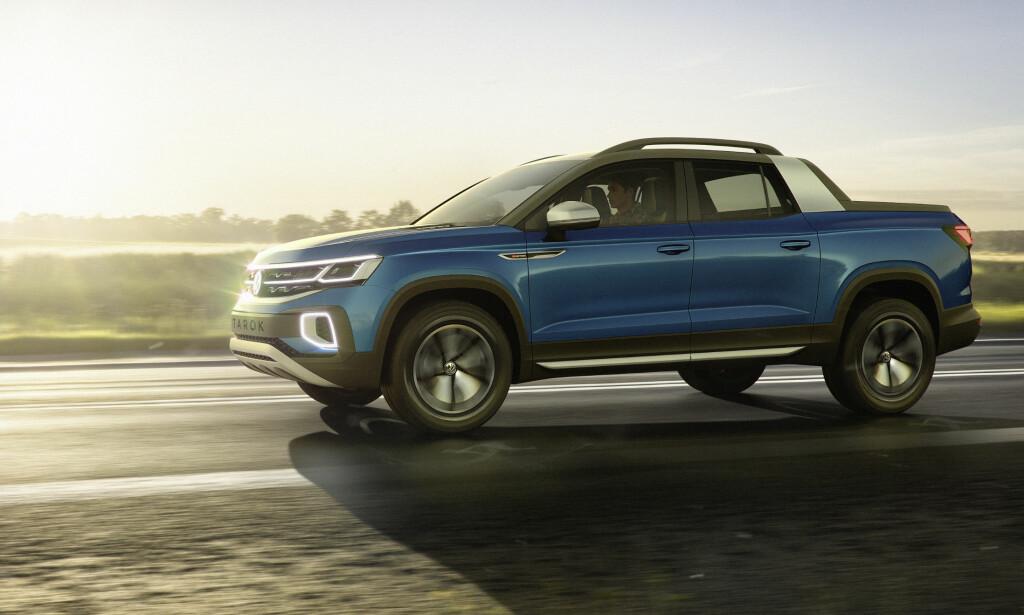 LIVSSTIL: Targa-inspirert design med elementer hentet fra VWs populære SUV-er, gjør VW Tarok til en livsstils-pickup. Foto: VW