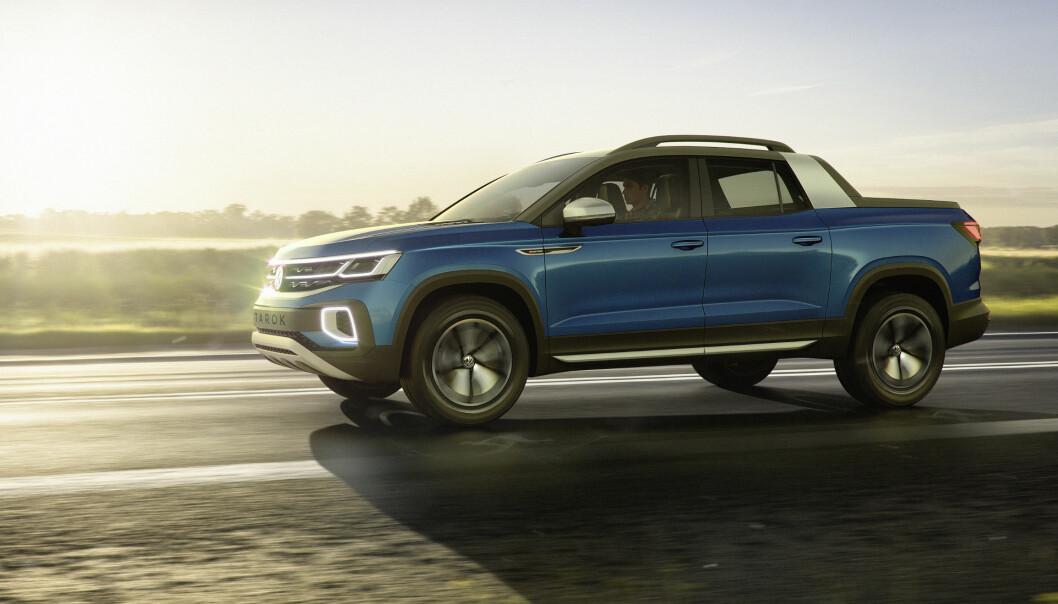 <strong>LIVSSTIL:</strong> Targa-inspirert design med elementer hentet fra VWs populære SUV-er, gjør VW Tarok til en livsstils-pickup. Foto: VW