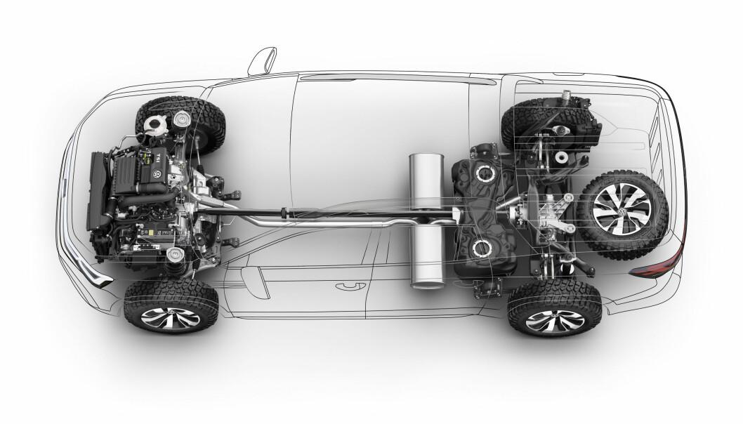 <strong>FIREHJULSTREKK:</strong> Firehjulstrekk blir standard og den kan kombineres med en dieselmotor og automatgir.