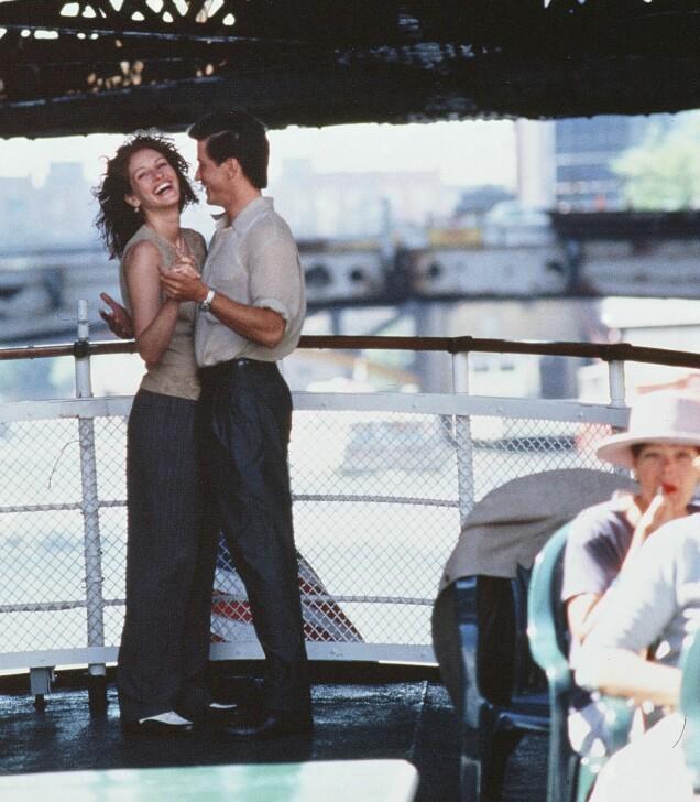 FØRSTE MØTE: Julia og Dermot ble gode venner da de møttes under innspillingen av «Min beste venns bryllup» i 1997. Foto: Rex Features/ NTB scanpix
