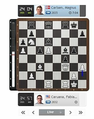 TABBETREKK: Bonden til h3. Skjermdump: Chess24.com