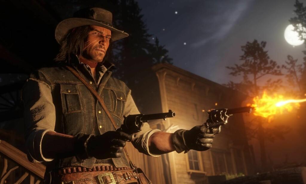 ANTI-WESTERN: Red Dead-serien må sees på som et oppgjør med John Waynes naive framstilling av den rettferdige mannen som forsvarer uskyldige kvinner og barn mot onde krefter. En anti-western, skriver innsenderen. Foto: Rockstar