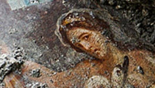 Fant erotisk kunst begravd i Pompeii