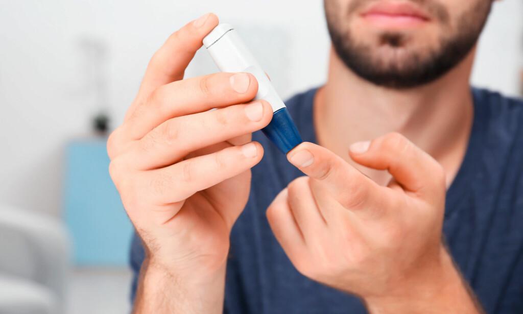 DIABETES: Høyt blodsukker over mange år gir økt risiko for potensproblemer. Foto: NTB / Scanpix / Shutterstock.